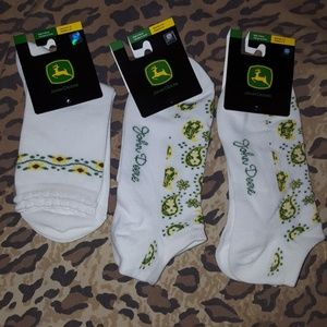 3 Pairs John Deere Socks